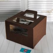 Коробка 280*280*200 с/о с ручками (шоколадная)