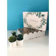Коробка подарочная с PVC-крышкой «Крафт», 20 × 30 × 8 см