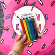 Набор маркеров для украшения десертов 5шт