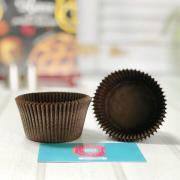 Тарталетки для капкейков коричневые (набор 10) 55*43мм