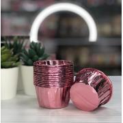 Форма для капкейков розовый металлик