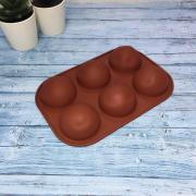 Полусфера для выпечки 6 ячеек d5.2 см