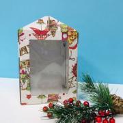 Коробка под пряничный домик 160*160*200 новогодняя