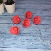 Вафельные розы ярко-розовые/ 5 шт