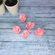 Вафельные розы розовые/ 5 шт