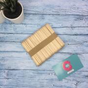 Палочки деревянные для мороженного 50 шт 9х1,5