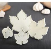 Набор выемок кондитерских для марципана и теста Кленовый лист 4шт 9*9*3см