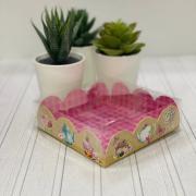 Коробка для кондитерских изделий с PVC крышкой «Чаепитие», 10,5 × 10,5 × 3 см