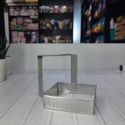 Квадрат для выпечки перфорированный 7,5*7,5 см, h=2 см