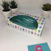 Коробка для печенья/конфет Прямоугольная цветная с окошком