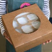 Коробка крафт на 9 капкейков