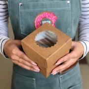 Коробка крафт на 1 капкейк