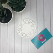 Салфетки бумажные ажурные 9 см (10 шт)