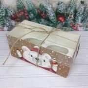 """Коробка для капкейка """"С праздником!"""""""