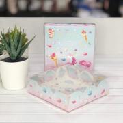 Коробка для кондитерских изделий с PVC крышкой «Побалуй себя», 10,5 × 10,5 × 3 см