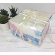 """Коробка для 4 капкейков """"Цветная"""", 16х16х7,5 см"""