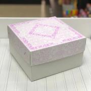 Кондитерская упаковка, короб, 1 кг, сиреневая, 21 х 21 х 12 см