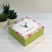 """Коробка для кондитерских изделий """"Олень/цветы"""" 14*14*5"""