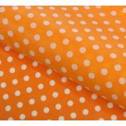 Бумага упаковочная тишью Горох. оранжевый. 50 смх66 см