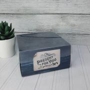 Коробка для кондитерских изделий с PVC крышкой Present for you, 12 х 6 х 11,5 см